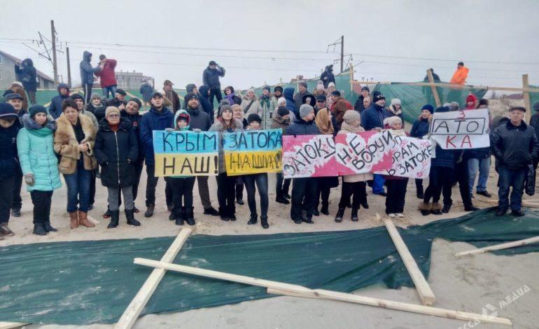 Псевдоборцы за пляжи Затоки не пришли поддержать жителей поселка
