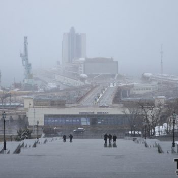 Одесса во власти мокрого снега (фото)