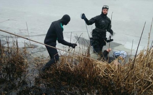 В Балтском районе женщина провалилась под лед