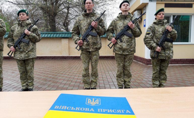 В Измаильском погранотряде военнослужащие присягали украинскому народу