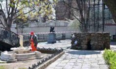 В Одессе начался ремонт сквера Уголок старой Одессы (фото)