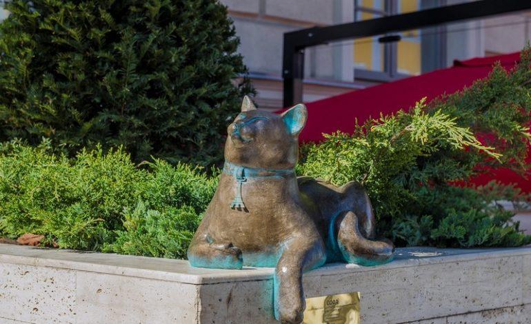 В центре Одессы появилась кошка Софа с символом Эйфелевой башни (фото)
