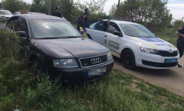 В Одессе трое мужчин в балаклавах угнали Audi и пытались скрыться