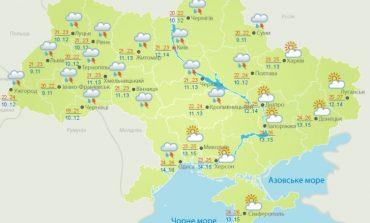 С понедельника Украину накроют дожди и грозы