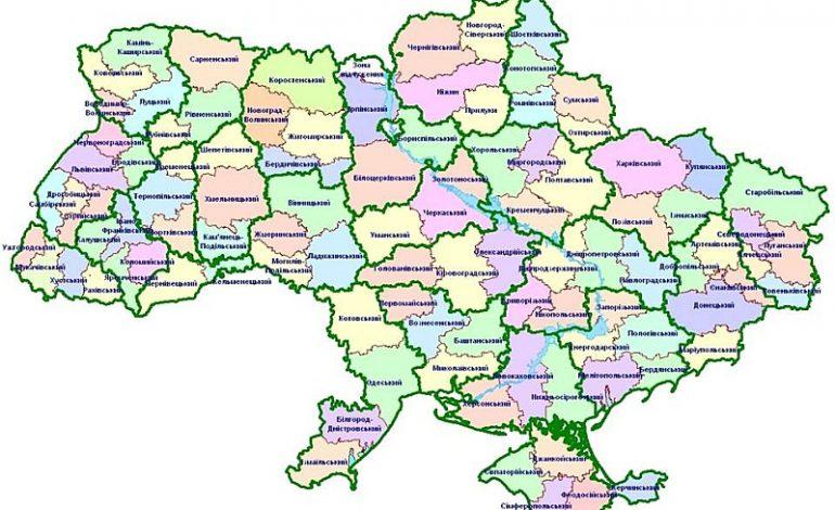 Новая карта Одесской области: четыре административных района