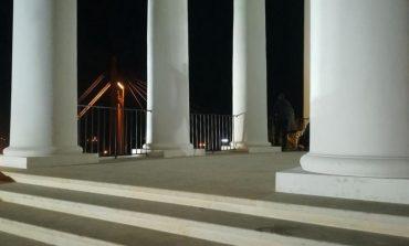 В Одессе на Воронцовской колоннаде установили забор (фото)
