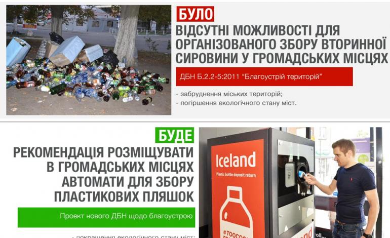 Утилизация пластика: в Украине хотят установить специальные автоматы