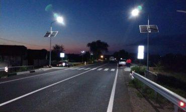 В Саратском районе вдоль трассы Одесса - Рени установили автономные фонари