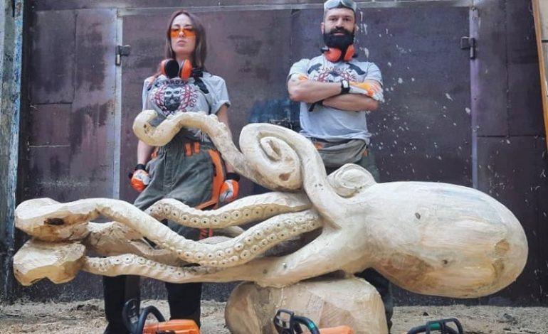 В Одессе замечен огромный осьминог