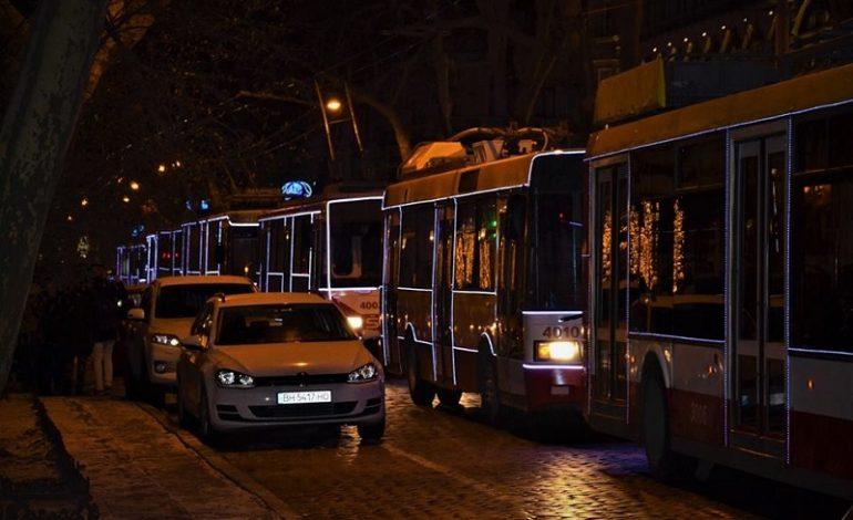 График работы общественного транспорта Одессы в новогоднюю ночь
