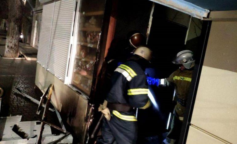 Почему в Белгороде-Днестровском горел  киоск