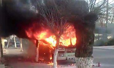 В Рени сгорел автобус Нацгвардии