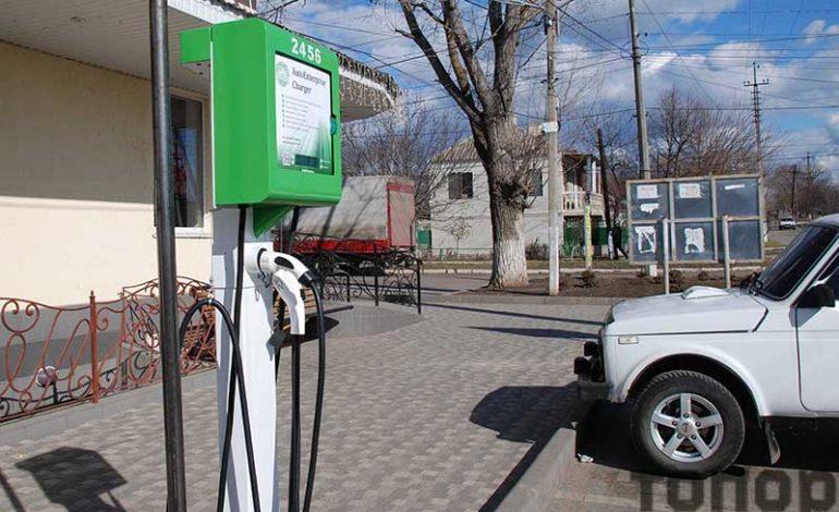В Болграде появилась первая электрозаправка