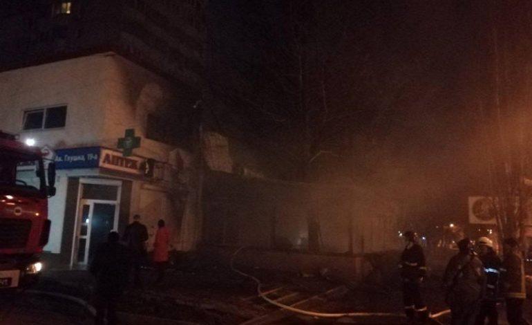 В Одессе ранним утром загорелось кафе