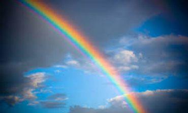 Жители Сараты в феврале любовались радугой (видео)