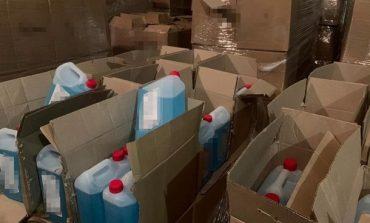 В Луцке обнаружен подпольный цех по производству поддельных антисептиков