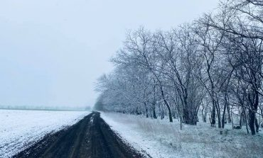 На юге Одесской области выпал снег (фотофакт)
