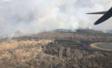 В Чернобыльской зоне начался масштабный лесной пожар