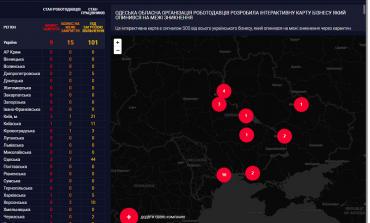 В Одессе создали карту погибающего от коронавирусного карантина бизнеса