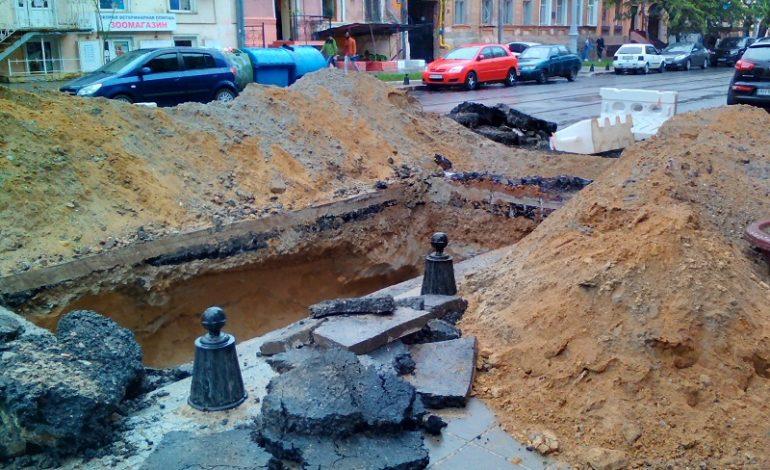 Не прошло и полугода: снова ремонт Софиевской (фото)
