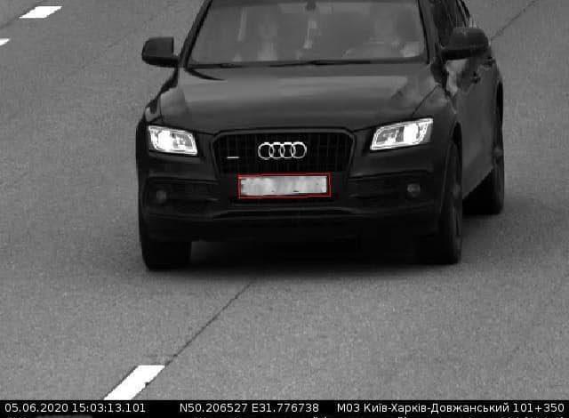 Камеры автофиксации в Киеве поймали нарушителя, разогнавшегося до 224 км/ч