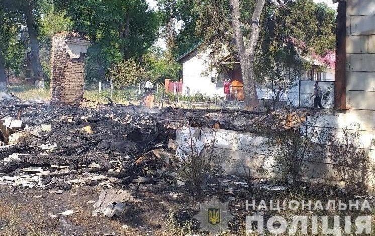 Двойной пожар в Арцизе: правоохранители задержали подозреваемого в поджоге (фото, видео)