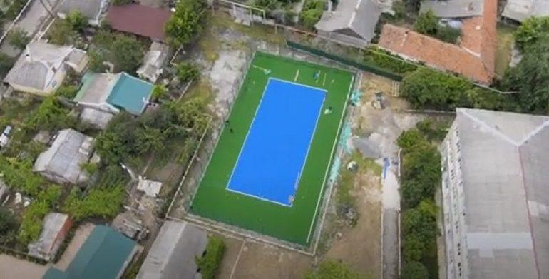 В Ренийской гимназии открыли новую спортивную площадку