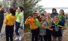 Школьники из Оксамитного Болградского района помогают восстановить леса Донбасса