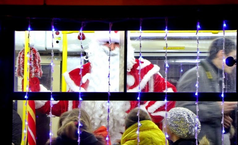Новогодние праздники в Одессе: парады трамваев и троллейбусов