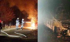 Под Болградом на дороге загорелась машина