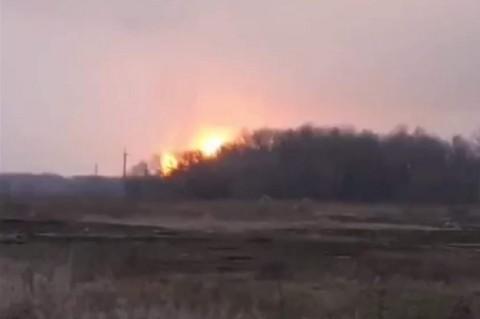 Взрыв газопровода в Лубнах: ликвидация пожара продолжается