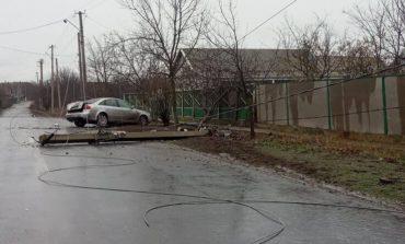 В Килии на въезде в город «Audi» на скорости сбила электроопору