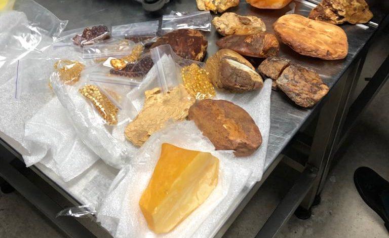3,5 кг янтаря выявлены в багаже пассажира в аэропорту «Борисполь»