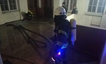 В Одессе ночью тушили пожар в общежитии юридической академии