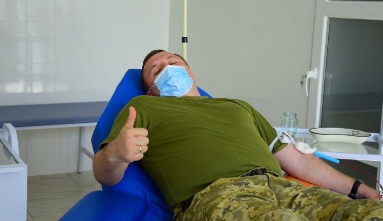 В Одесской области пограничники сдают кровь на добровольных началах