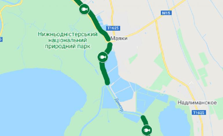 В Одесской области появилась онлайн карта для рыбалки