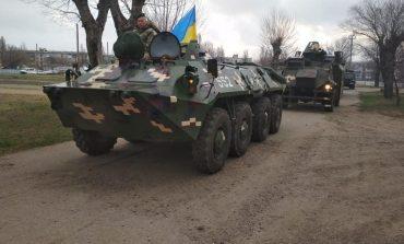Белгород-Днестровский: спецназ на бронетехнике отрабатывает охрану украинско-молдавской границы (фото)