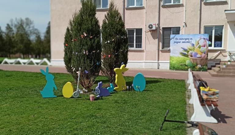 Пасхальную фотозону создали в Белгороде-Днестровском (ФОТО)