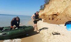 Возле курорта Лебедевка обнаружили затонувшее судно с боеприпасами