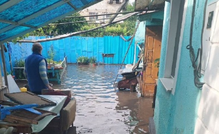 В Одесской области проливной дождь стал причиной затопления некоторых домохозяйств