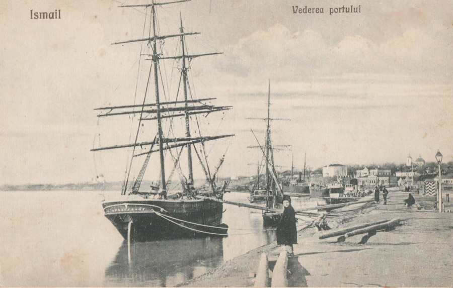 открытка с изображением порта Измаил