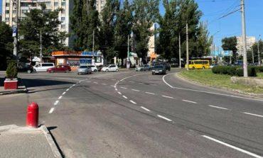 В Одессе на площади Независимости круговое движение заменили на «турбокольцо»