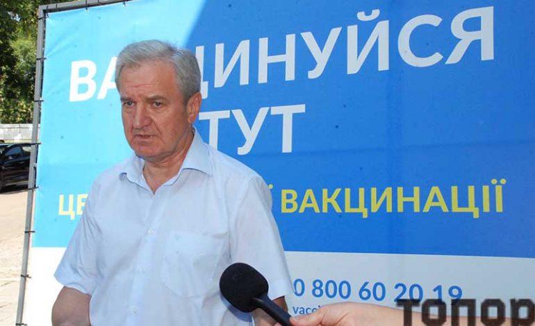 Главная тема визита руководителя области в Болград – низкие темпы вакцинации