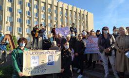 В Измаиле митинговали против принудительной вакцинации