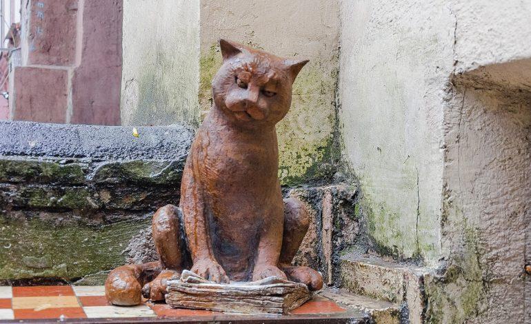В центре Одессы открыли новую скульптуру кота (фото)