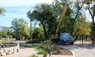 В парках Белгорода-Днестровского продолжаются работы